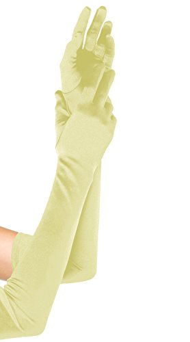 Emust Women's Roaring 20s Opera Length Costume Gloves Champagne Size One Size (Roaring 20s Attire)