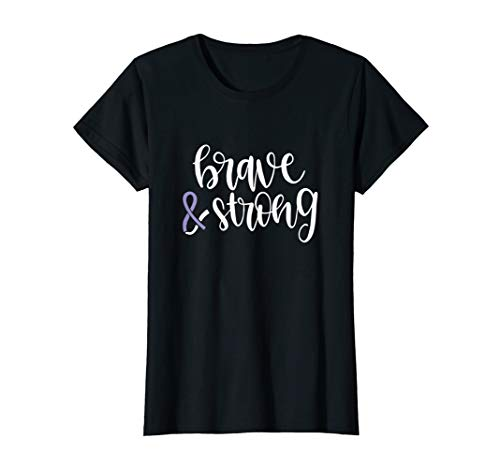 Brave & Strong Esophageal Cancer Periwinkle Support Ribbon T-Shirt