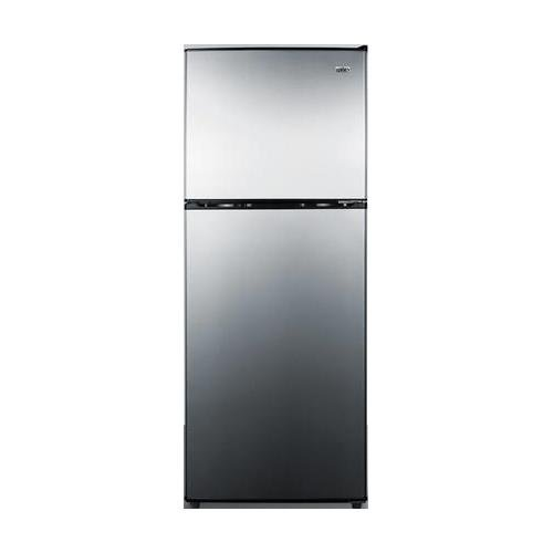 CP972SS 22 Top Freezer Refrigerator with 7.1 cu. ft. Capacity Cycle Defrost Door Storage Interior Light and Removable Freezer Shelf in Stainless Steel