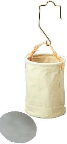 コヅチ(KOZUCHI) 6号帆布 強力型工具袋 ホワイト 直径27×高さ35cm 大型フック、鉄板付 KB-30-27 W