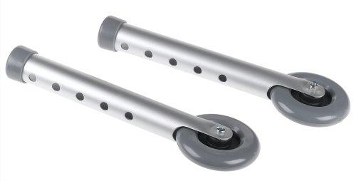Duro-Med Walker Wheels, 3 Inch Non-Swivel Wheels, Adjustable Legs