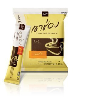 Khao Shong 3in1 Condensed Milk Coffee 25 Sachets Net Wt. 525 G Thailand Product by Khao Shong (Image #1)