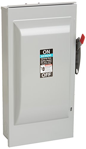 SIEMENS GF224NR 200 Amp, 2 Pole, 240-Volt, 3 Wire, Fused, General Duty, Outdoor Rated by Siemens (Image #3)