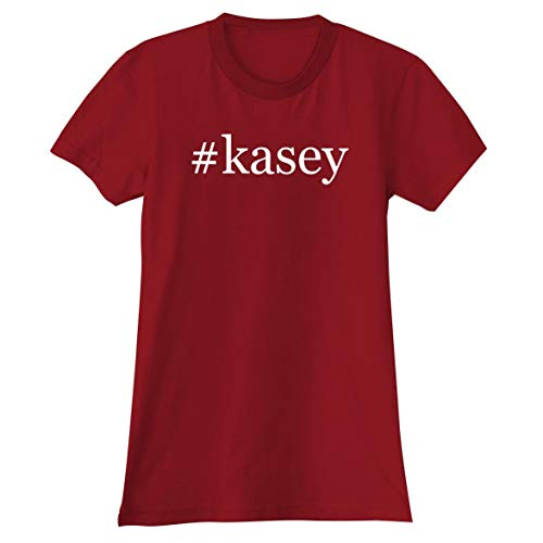 #Kasey - A Soft & Comfortable Hashtag Women's Junior Cut T-Shirt, Red, Small ()