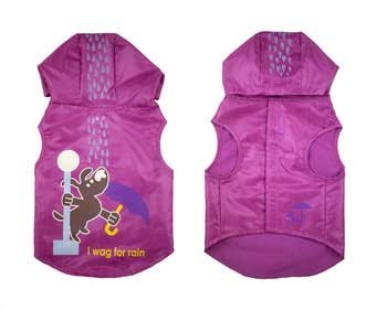 Wagging In The Rain Dog Raincoat Color: Pink, Size: XX-Small