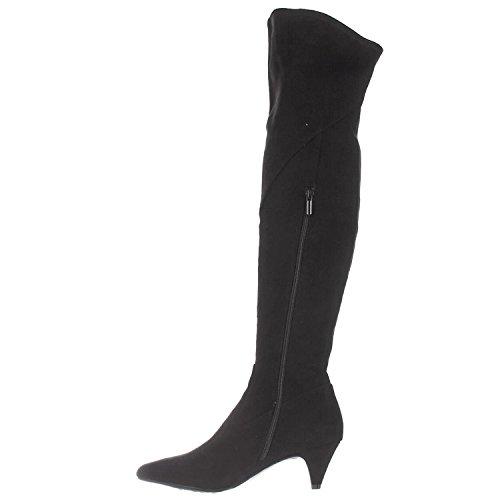 Impo Womens Edeva Pointed Toe Knee High Fashion Boots, Black, Size (Pointed Toe Knee Boots)