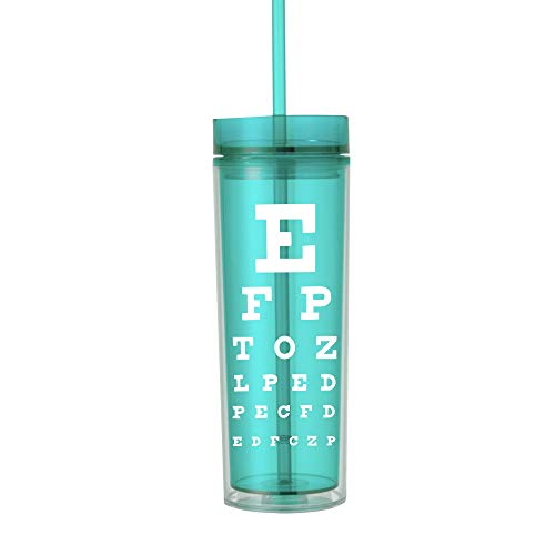 Optometry Gifts for Women Eye Tech Technician Gifts Optician Water Bottle Tumbler Cup with Lid Mint 0197