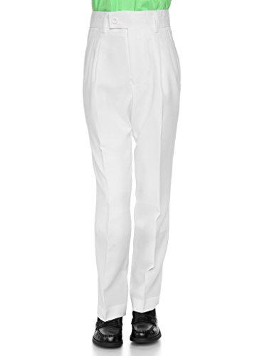 RGM 100% Dacron, Pleated Front, Boys Dress Slacks White 12 (Boys Pleated Dress Pants)