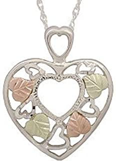 product image for Black Hills Heart Shaped Sterling Silver Pendant
