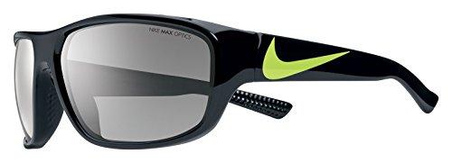 Nike EV0887-007 Mercurial Sunglasses (One Size), Black/Volt, Grey with Silver Flash - 007 Sunglasses