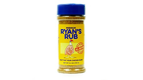 Premium Ryans Rub All Natural Chicken and Vegetarian Seasoning, Gluten Free, Non-GMO, No MSG