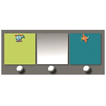 TITOUTAM - Patère chambre bébé avec miroir et porte-photos 2 vues p ...