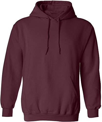 Hoodie Maroon Youth (Joe's USA - Big Mens Size Large Hoodie Sweatshirts-L in Maroon)
