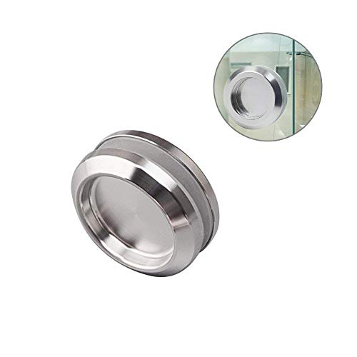 (YES Time Stainless Steel Shower Glass Door Sliding Knob Bathroom Round Back-to-Back Handle Pull Pack of 2 )