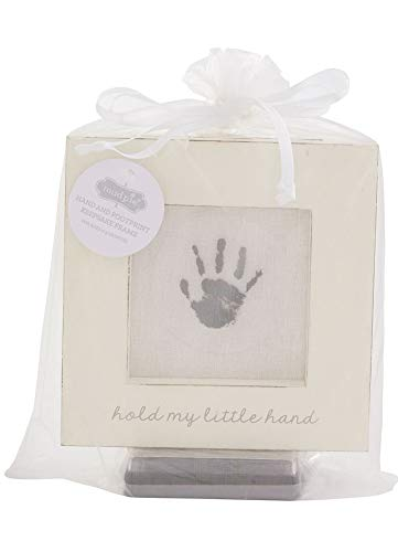 Mud Pie White Hand and Foot Print Frame