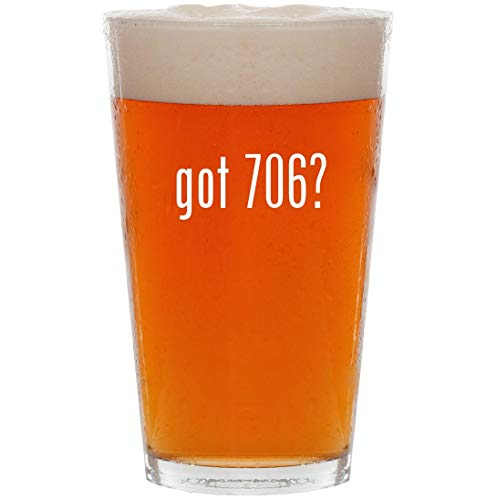 got 706? - 16oz All Purpose Pint Beer Glass (706 Scan Easy)