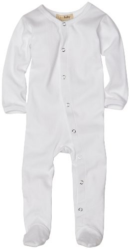 (L'ovedbaby Unisex-Baby Newborn Gl'oved Sleeve Overall, White, 6-9 Months )