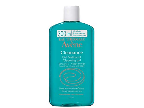 Avene Gel Limpiador sin Jabon Facial A-Cleanance, 300 ml