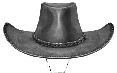 Novelty Black Cowboy Hat 12 Edible Stand up wafer paper cake toppers (5 - 10 BUSINESS DAYS DELIVERY FROM UK) -