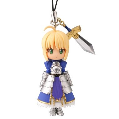 Fate / Stay Night Capsule Q ~Fortune Figure Cell Phone Charm Strap ~ Saber ~ Good Luck