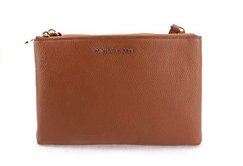 Michael Kors Women's Jet Set Travel Dbl Gusset Crossbody Bag No Size (Brown Acorn)
