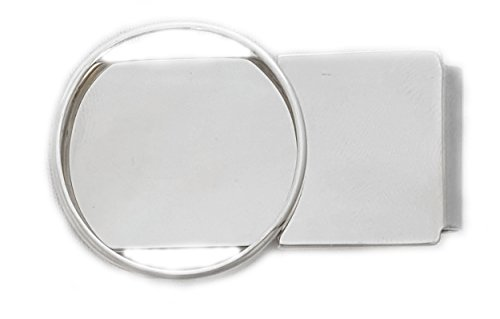 Half Dollar Sterling Silver Hinge Back Money Clip Without Coin ()