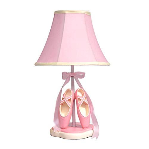 (Good home Cute Ballet Shoes Table Lamp Pink Warm Bedroom Bedside Lamp Creative Nordic Princess Girl Children Room Decoration Table Lamp Dimmable)