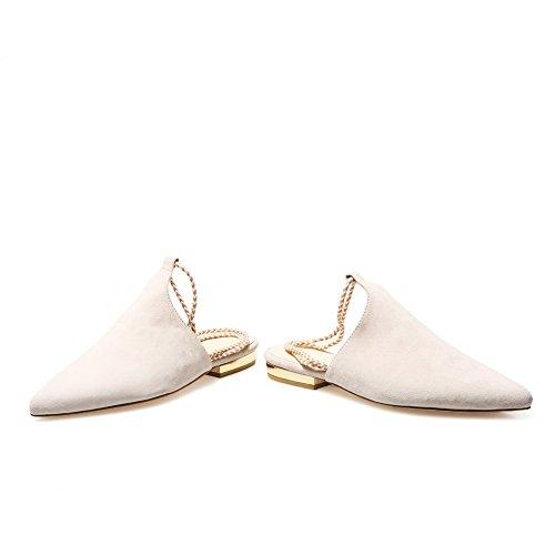 Adee vestir blanco mujer para Sandalias de wvpnvxfqOY