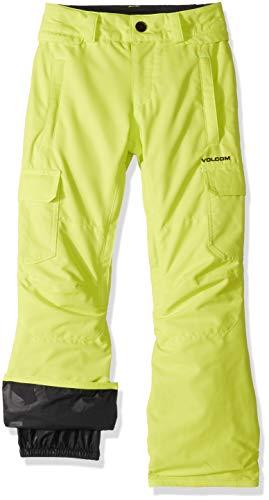 Volcom Boys' Big Cargo Insulated 2 Layer Shell Snow Pant, Lime, - Vent Volcom