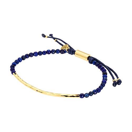 (gorjana Women's Power Gemstone Bracelet for Wisdom, Lapis/Gold, One Size)