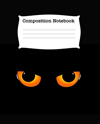 Composition Notebook: Spooky Half Blank Half Wide Ruled