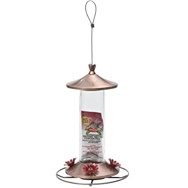 Perky-Pet 710B Elegant Copper Glass Hummingbird Feeder with Free Nectar