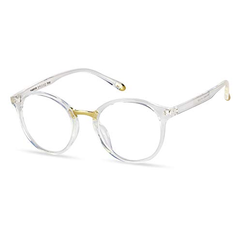 LifeArt Blue Light Blocking Computer Glasses,Stylish Reading Glasses for Women/Men,Transparent Lens Filter UV Light 400,Reduce Eyestrain (No Magnification)
