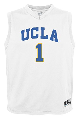 NCAA by Outerstuff NCAA Ucla Bruins Youth boys Chase Basketball Jersey, White, Youth Small(8)