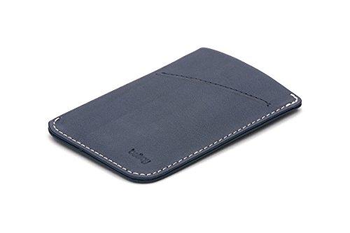 Bellroy Herren Leder Geldbörse und Karten Etui Card Sleeve, Farbe: Black Blue Steel