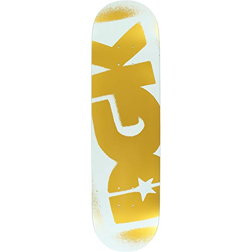 Og Logo Deck - DGK Skateboards OG Logo White/Gold Skateboard Deck - 8