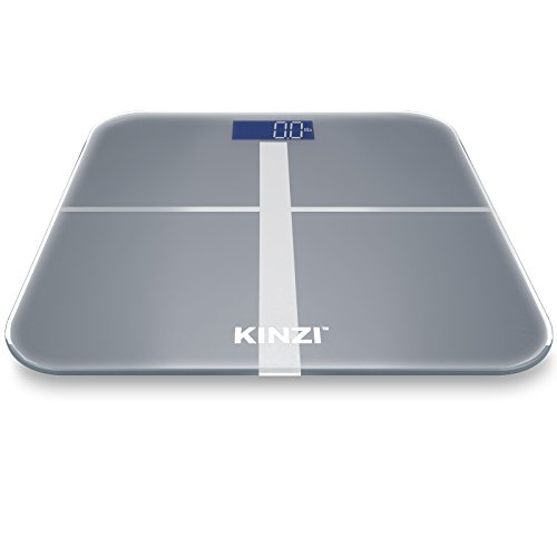 "Kinzi Precision Digital Bathroom Scale w/ Extra Large Lighted Display, 400 lb. Capacity and ""Step-On"" Technology"
