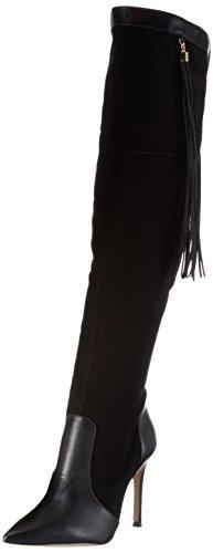 Buffalo London Damen 632X-058 Nappa Kid Suede Langschaft Stiefel Schwarz (BLACK925)