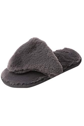 Enfiler des Les Pantoufles Antidérapantes Femme Pantoufles Zinmuwa Grey Confortables wqaZIUnZ