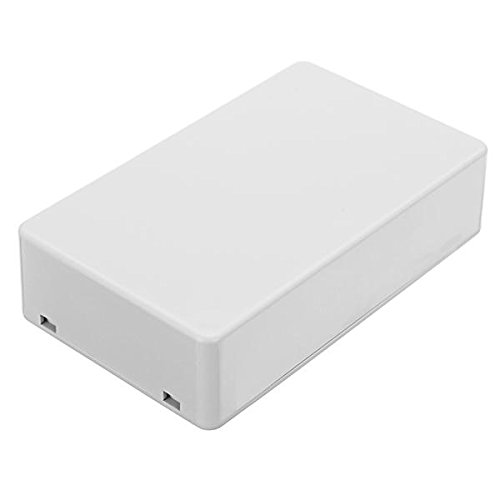 100 x 59.5 x 25mm Plastic Project Housing Electronic Junction Case Power Supply Box Instrument Case - White - 1 x Instrument- Arduino Compatible SCM & DIY Kits Arduino Compatible SCM Components