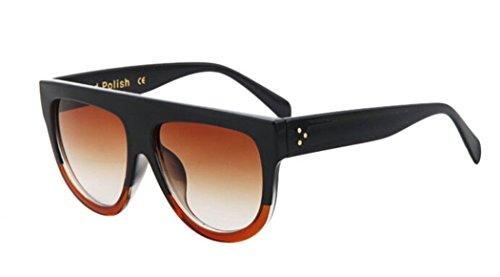 GAMT Vintage Top Flat Full Rimmed Plastic Cateye Sunglasses - Sunglasses Top