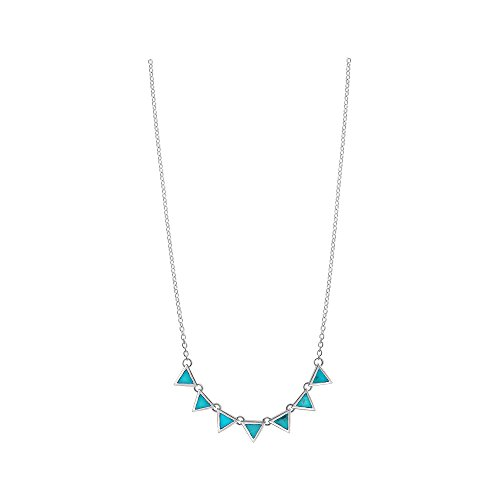 - Boma Jewelry Sterling Silver Turquoise Triangle Necklace, 18 Inches