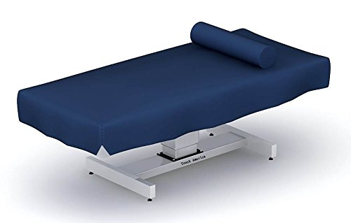 Fitted Vinyl Massage Table Wet Sheet in Dark Blue by Touch America