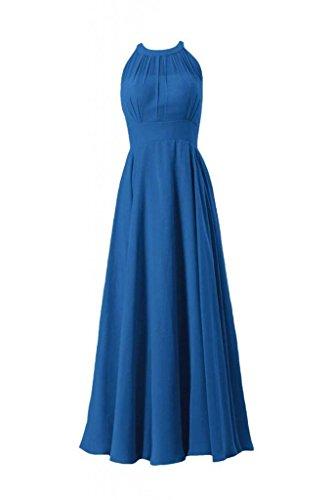 Long Evening Blue DaisyFormals CST2225L Chiffon royal 37 Bridesmaid Halter Women Dress Dress 7xqdTxY