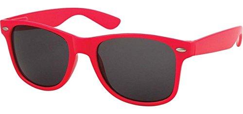 Classic Retro Horn Rimmed Wayfarer Sunglasses Metal Spring Hinge Comfort Fit (Hot Pink) (Hot Pink Wayfarer Sunglasses compare prices)