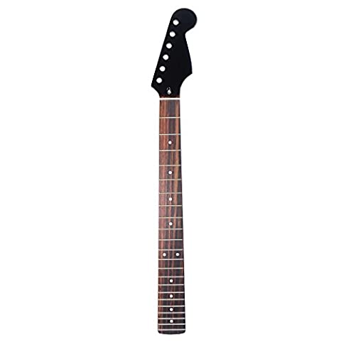 ammoon 22 Frets New Replacement Maple Neck Rosewood Fretboard Fingerboard for Fender ST Strat Electric (Electric Guitar Neck Replacement)