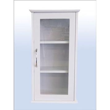 Badezimmerschrank Glas Hängeschrank Weiß: Amazon.de: Küche & Haushalt