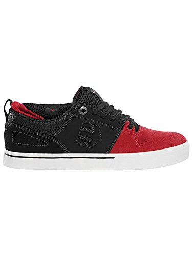 Etnies - Zapatillas de skateboarding de piel, sintético para hombre Negro negro, rojo, negro rojo, negro