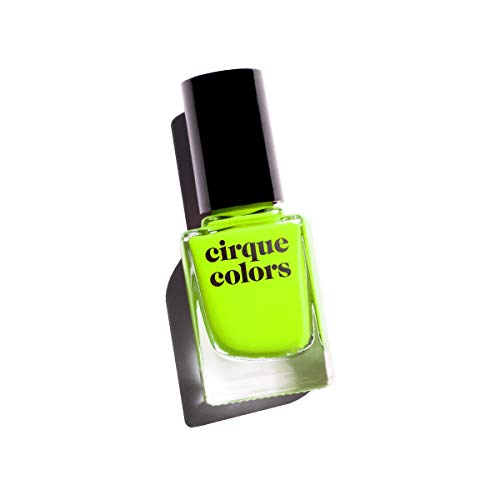 Cirque Colors Vice Collection - Neon Highlighter Yellow Crème Nail Polish - 0.37 fl. oz. (11 ml) - Vegan, Cruelty-Free, Non-Toxic Formula (Electric - Color Neon Of