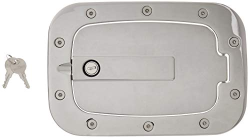 AMI 6158CL Race Style Billet Fuel Dr 10 3/8'' X 7 Ring 8'' X 4 5/8'' Door-Chrome Locking